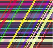 Colourful Summer Fun Trippy Crossing Lines by PLdesign