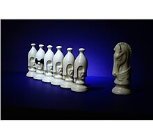 Chess Pieces - (dare to be different) Photographic Print