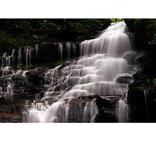 Upper Part of the Ganoga Waterfalls-Rickets Glen State Park Photographic Print