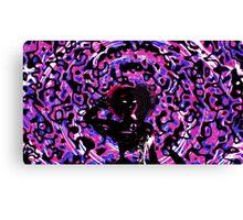 Purple Barbie Salutes Eternity Canvas Print