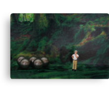 Oliver thought he was hopelessly lost in the forest, then suddenly he found his bearings. Canvas Print