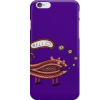 Paisley Chameleon says Hello iPhone Case/Skin