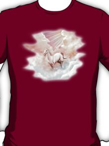White Horse Running Trough The Clouds T-Shirt