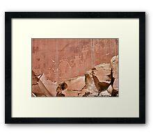 Capitol Reef Petroglyphs Framed Print