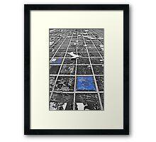 Blue Tiles from Tron Framed Print