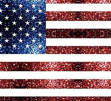 USA flag red & blue sparkles by PLdesign