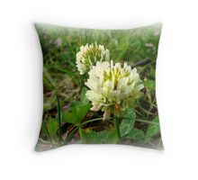 White Clover Throw Pillow