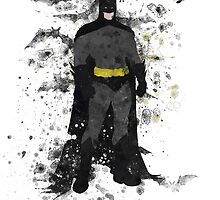 Superhero Splatter Art by ProjectPixel