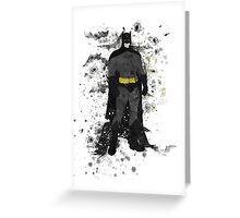Superhero Splatter Art Greeting Card