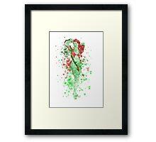 SuperVillain Splatter Graphic Framed Print