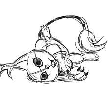 Sketchy Gatomon by Minette Wasserman
