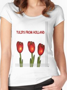 Tulips from Holland Women's Fitted Scoop T-Shirt