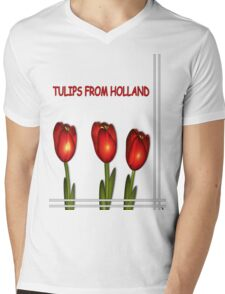 Tulips from Holland Mens V-Neck T-Shirt
