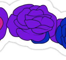 Flower Crown - Bisexual Sticker