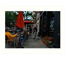 First Friday street shot Art Print