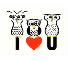Say it with Owls Art Print