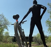 Black Zentai and Bike 3 by mdkgraphics