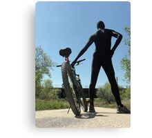 Black Zentai and Bike 3 Canvas Print