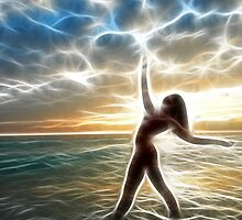 Dancing to an Electric Sunrise #3972SF by Chris Maher