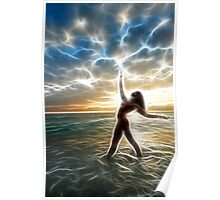 Dancing to an Electric Sunrise #3972SF Poster
