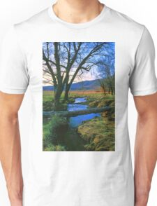 EVENING IN CADES COVE Unisex T-Shirt