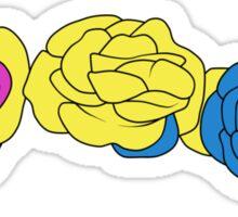 Flower Crown - Pansexual Sticker
