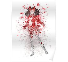 Scarlet Witch Splatter Graphic Poster
