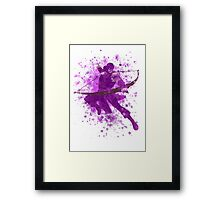 Hawkeye Splatter Graphic Framed Print