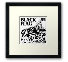 Black flag- Six pack Framed Print