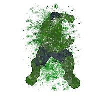 Hulk Splatter Graphic Photographic Print