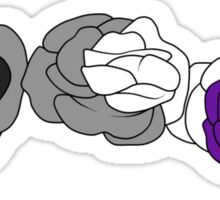 Flower Crown - Asexual/Demisexual Sticker