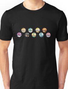 Eeveelution Pokeballs Unisex T-Shirt