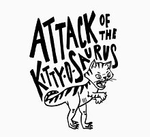 The Attack of Kitty-O-Saurus! Men's Baseball ¾ T-Shirt
