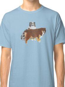 Aussie Pair ~ Australian Shepherd ~  sticker and T-shirt Classic T-Shirt