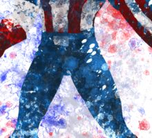 Captain America Splatter Graphic Sticker