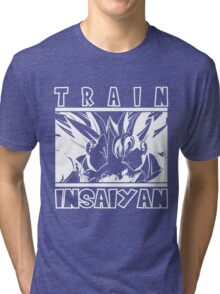Train Insaiyan - dark Tri-blend T-Shirt