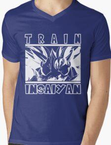Train Insaiyan - dark Mens V-Neck T-Shirt