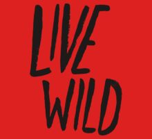 Live Wild Typography One Piece - Long Sleeve