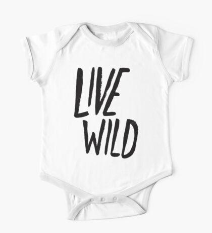 Live Wild Typography One Piece - Short Sleeve