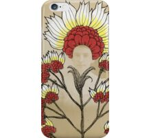 Red Flowers Bride iPhone Case/Skin