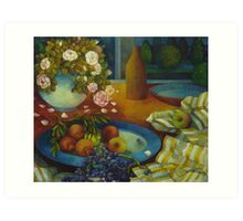 still-life with pomegranate Art Print