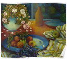 still-life with pomegranate Poster