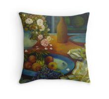 still-life with pomegranate Throw Pillow