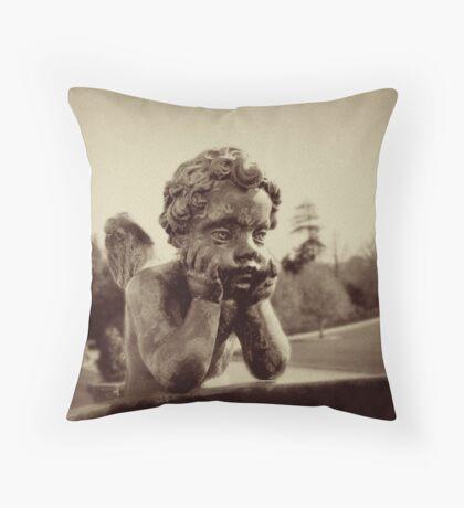 Bored Cherub Throw Pillow