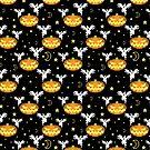 Pixel Halloween Pattern by SaradaBoru