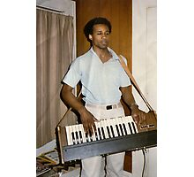 Me and my MiniKorg Synthesizer (not my photography) Photographic Print