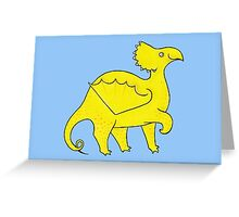 Happy Yellow Dragon Greeting Card