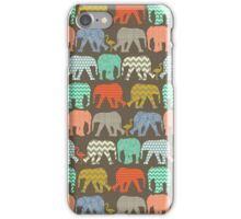 baby elephants and flamingos savannah iPhone Case/Skin