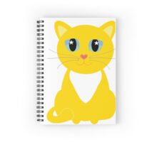 Only One Yellow Kitty Spiral Notebook
