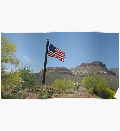 Apache Trail Flag Poster